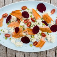 Hot Smoked Trout with Potato Salad & Beetroot