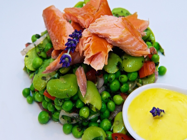 Yorkshire Summer Salad with Hot Smoked Trout