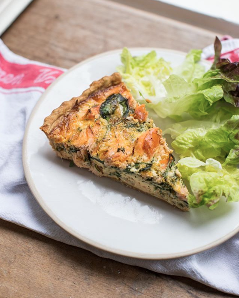 Staal Smoked Salmon Dill and Spinach Tart